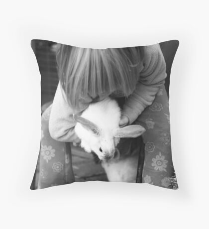 Wascally wabbit Throw Pillow