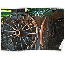 Wagon Wheels and Rust Poster