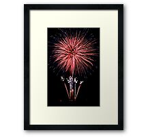 Fourth of July Fireworks Framed Print