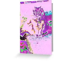 Psychedelic Cat Greeting Card