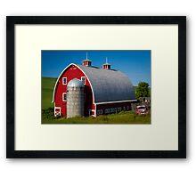 Palouse Red Barn Framed Print