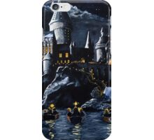 Hogwarts by night iPhone Case/Skin