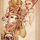 Steampunk post card by Maryna  Rudzko