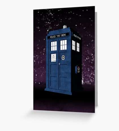 The Tardis' Secret Greeting Card