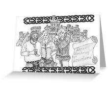 Three Wandering Travelers Greeting Card