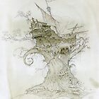 Ship in the branches of a tree by Natasha Tabatchikova