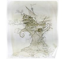 Ship in the branches of a tree Poster