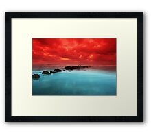 Red Sky at Morning Framed Print