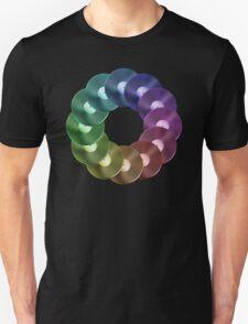 Ring of Vinyl LP Records - Metallic - Rainbow T-Shirt