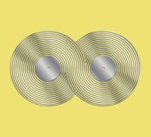 Vinyl Record Infinity - Mobius Strip - Metallic - Silver One Piece - Short Sleeve