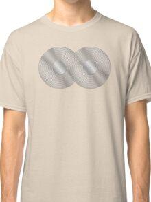 Vinyl Record Infinity - Mobius Strip - Metallic - Silver Classic T-Shirt