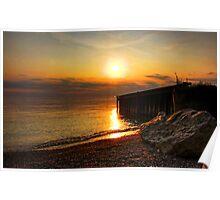 Bayfield Beach at Sunset Poster