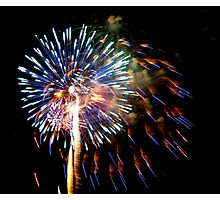July 4th Fireworks Photographic Print