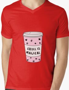 Coffee is Magical ★ Trendy/Hipster/Tumblr Meme Mens V-Neck T-Shirt