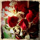 REDREAMING RETRO RED ROSES by REDREAMER