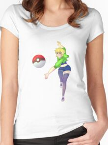 Pokemon Y Trainer Women's Fitted Scoop T-Shirt