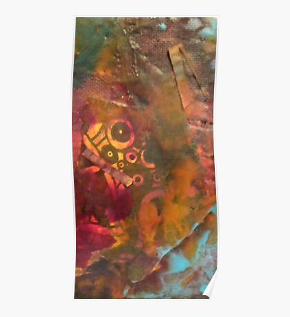 Encaustic Abstract Poster