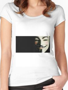 mask vendetta Women's Fitted Scoop T-Shirt