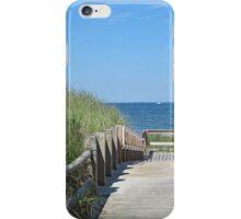 Boardwalk to the ocean beach iPhone Case/Skin