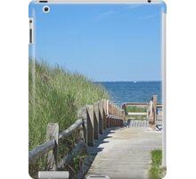 Boardwalk to the ocean beach iPad Case/Skin