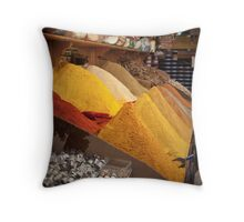 Curry Shop Throw Pillow