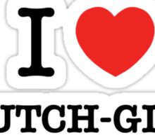 I Love NAUTCH-GIRLS Sticker