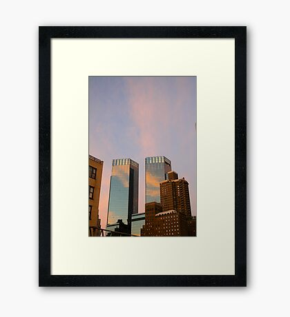 Two Towers. Framed Print