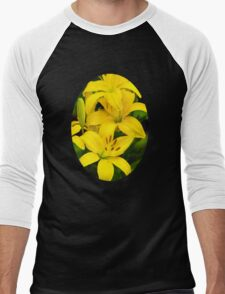Yellow Lilies Men's Baseball ¾ T-Shirt