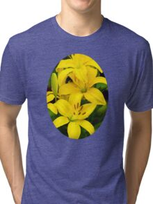 Yellow Lilies Tri-blend T-Shirt