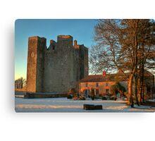 Barryscourt Castle in Winter Canvas Print