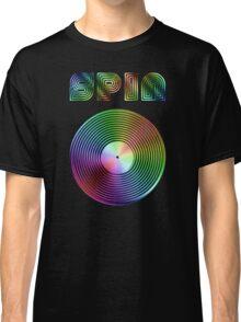 Spin - Vinyl LP Record & Text - Metallic - Rainbow Classic T-Shirt