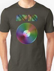 Spin - Vinyl LP Record & Text - Metallic - Rainbow T-Shirt