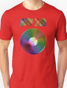 Spin - Vinyl LP Record & Text - Metallic - Rainbow Unisex T-Shirt