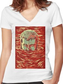 I am sinking here Women's Fitted V-Neck T-Shirt