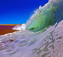 shorebreak wave by Preston Rose