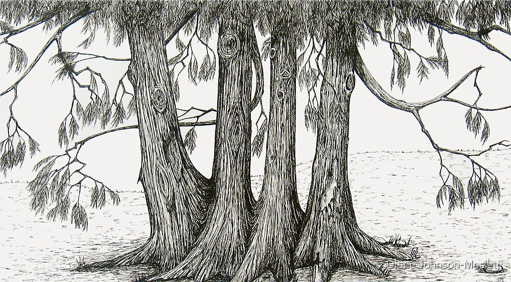 Linden Trees 2 by Diane Johnson-Mosley