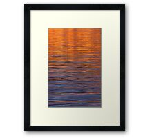 Water and Light Framed Print