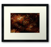 Twisting Into The Depths  Framed Print