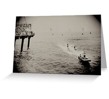 Steel Pier New Jersey 1930 Water Show By Jonathan Green Greeting Card