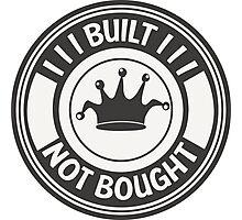 Jdm built not bought badge Photographic Print