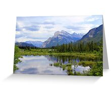 Mt.  Rundle As Seen From  Vermillion Lakes Greeting Card