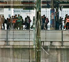 Commuters In Bangkok, Thailand by phil decocco