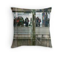 Commuters In Bangkok, Thailand Throw Pillow