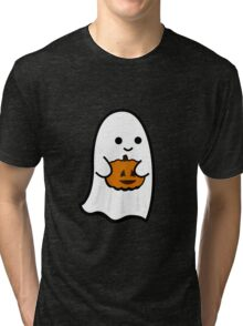 Cute Ghost's Jack o' Lantern Tri-blend T-Shirt