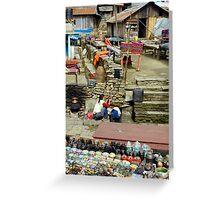 Village Scene Greeting Card