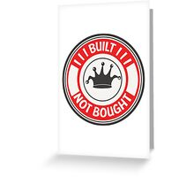 Jdm built not bought badge - red Greeting Card