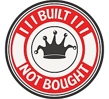 Jdm built not bought badge - red Photographic Print