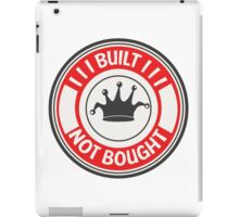 Jdm built not bought badge - red iPad Case/Skin