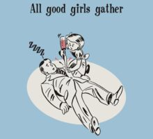 BioShock – All Good Girls Gather Poster (Black) by PonchTheOwl
