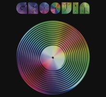 Groovin - Vinyl LP Record & Text - Metallic - Rainbow by graphix